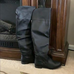 Over the knee tall black boots size 7.5
